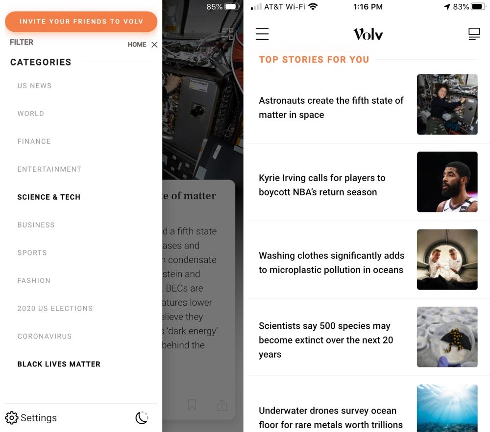Volv Categories Top Stories iPhone